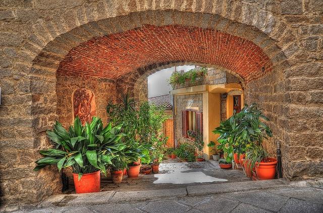 Archway in Gavoi, Barbagia, Sardinia, Italy
