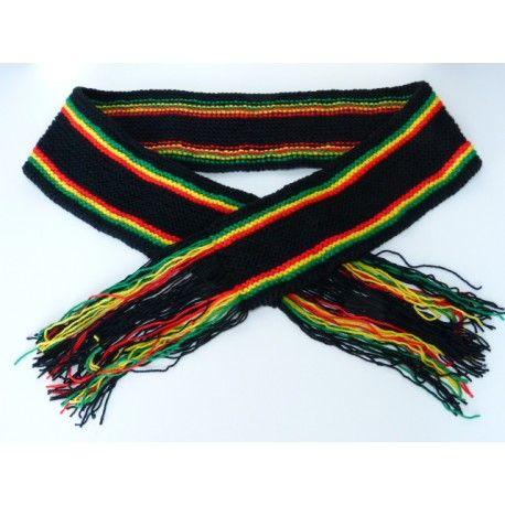 tricoter une echarpe rasta