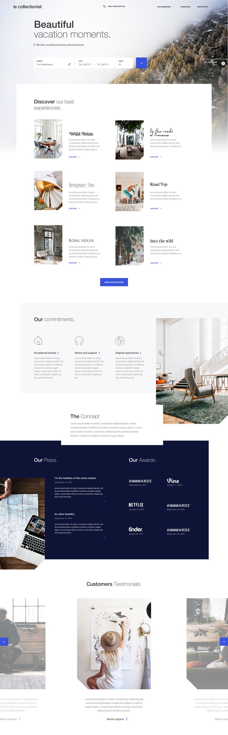 Trip Experience Concept / Barthelemy Chalvet