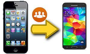 transférer des contacts d'un iPhone vers un S5