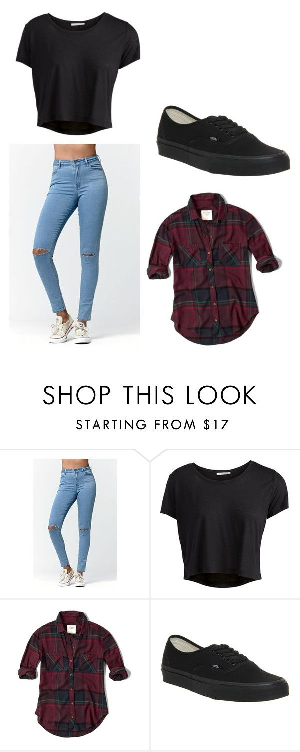 """""""Cute Outfit 🆒"""" by kennedy-jpg ❤ liked on Polyvore featuring Bullhead Denim Co., Pieces, Abercrombie & Fitch and Vans"""