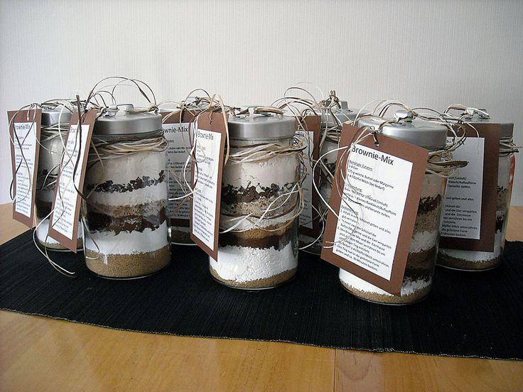 Brownie-Backmischung als Geschenk (Rezept mit Bild)   Chefkoch.de