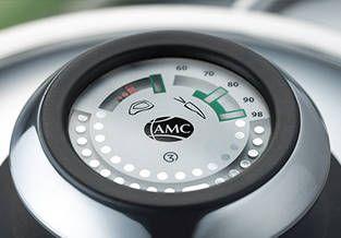 Visiotherm de AMC: Indica la temperatura registrada por el Sensotherm en el interior del recipiente. Podrás consultar la temperatura en cualquier momento para que puedas cocer o freír alimentos a la temperatura óptima y obtener platos siempre deliciosos.