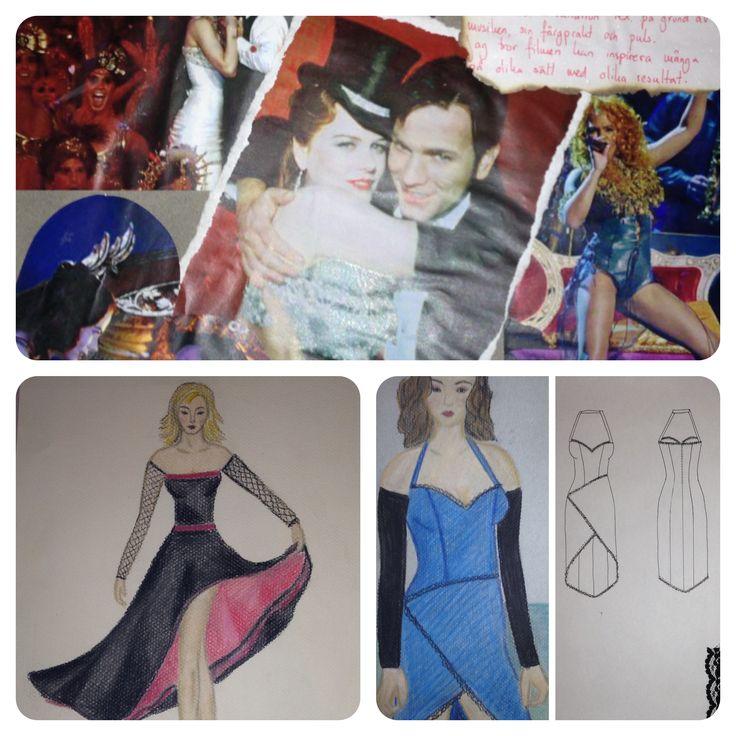 """Arbetsprov inspiration """"Moulin Rouge"""""""