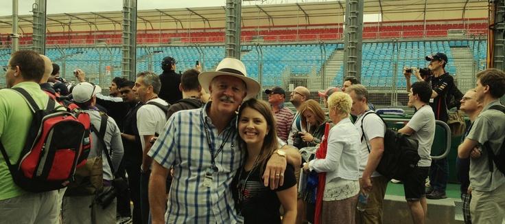 Me & my dad - Melbourne 2013