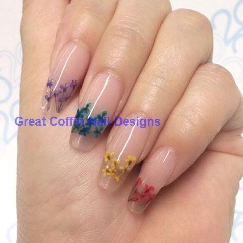 40 super fabelhafte getrocknete Blumen Nail Art …