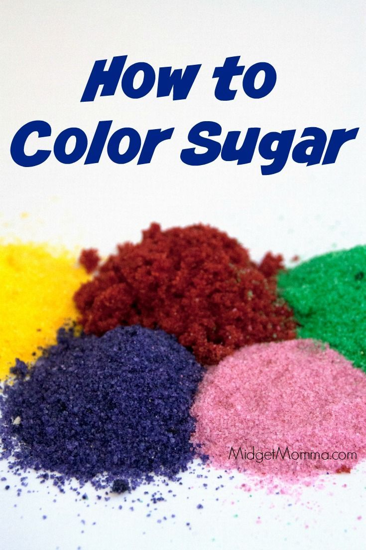 Step by step directions on how to make Colored Sugar. Easy to make Make…