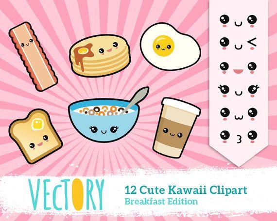 12 kawaii breakfast clipart kawaii emoticons cute breakfast clipart japan clipart kawaii - Emoticone kawaii ...