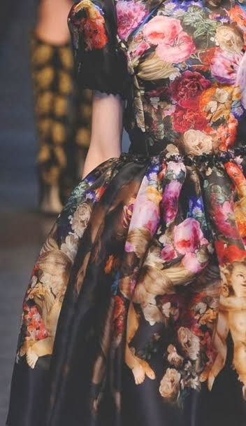 Flower print elegant dress #StylishAlisa