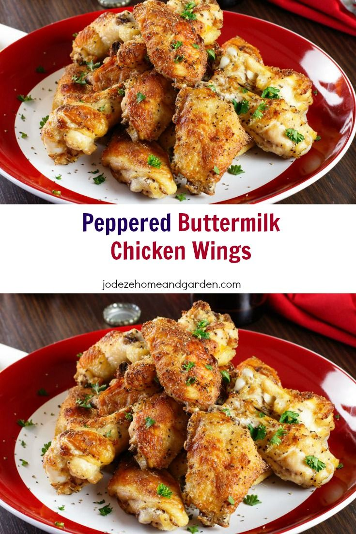 PEPPERED BUTTERMILK CHICKEN WINGS