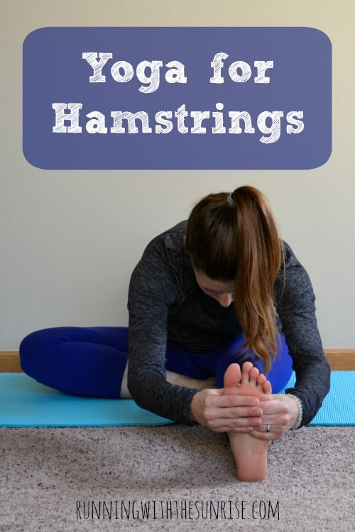 Yoga for Hamstrings: Five great yoga poses to help you stretch and lengthen your hamstrings, with modifications for tight hamstrings.