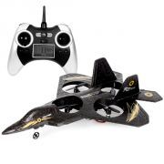 Avion de chasse radiocommandé portée de 40 métres, avec télecommande LCD et cable USB pour recharger l'avion. Achetez sur magasin-insolite.fr