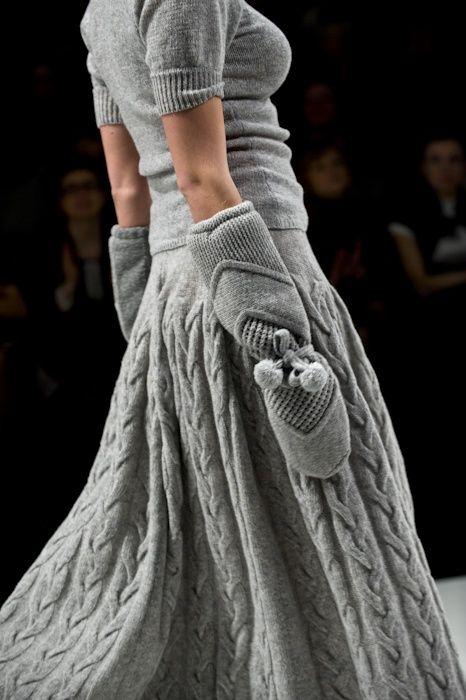 lovely... integralement tricot !