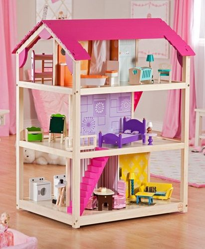 Kidkraft so chic dollhouse 65078 with furniture ...