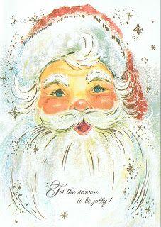 vintage Santa...stores need to bring this face back