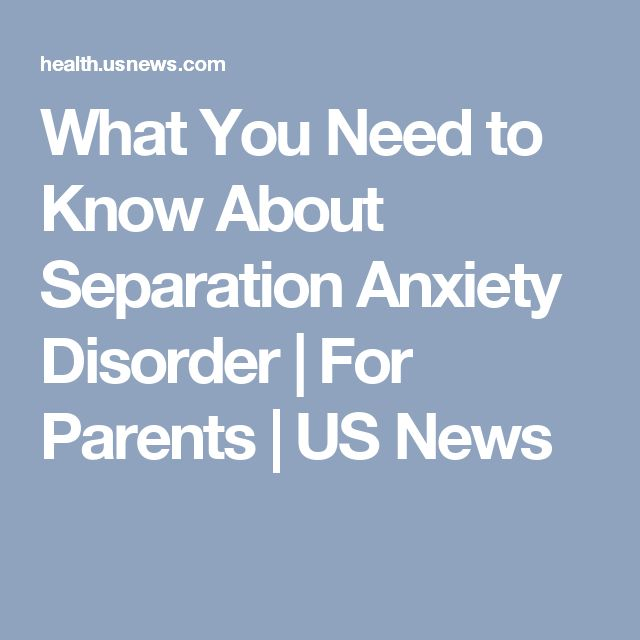 separation and anxiety disorder In this guide you'll find information on how to recognize separation anxiety, how it's diagnosed and how it's treated.