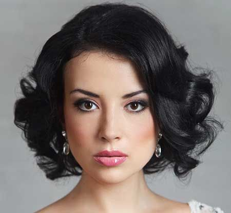 Hair and Makeup : Short Hairstyles for Weddings 2014_5