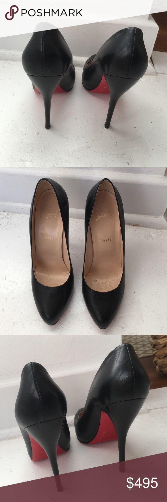 Christian Louboutin black pump Lightly used Louboutin Black Pumps! Worn 3 times! Christian Louboutin Shoes Heels