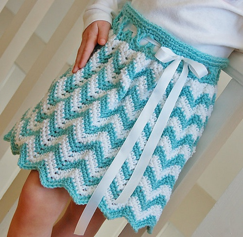 "Ravelry: ""Chasing Chevrons"" Skirt pattern by Jennifer Pionk  $4.99...bought this and can't wait to make it!"