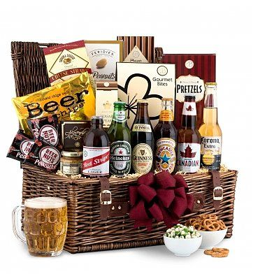 basket o'beer! Perfect idea for the guy's Chinese Christmas gift exchange!!