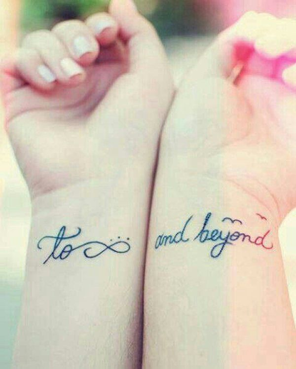 To infinity and beyond - 50+ Sister Tattoos Ideas | Art and Design