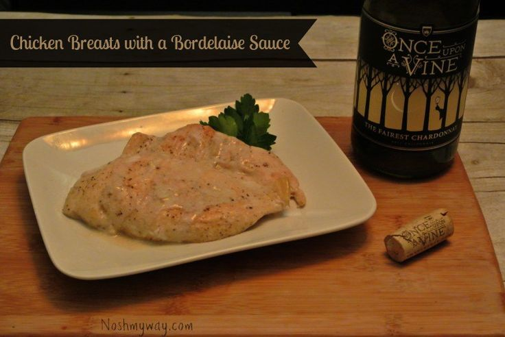 Chicken Breast in a White Bordelaise Sauce