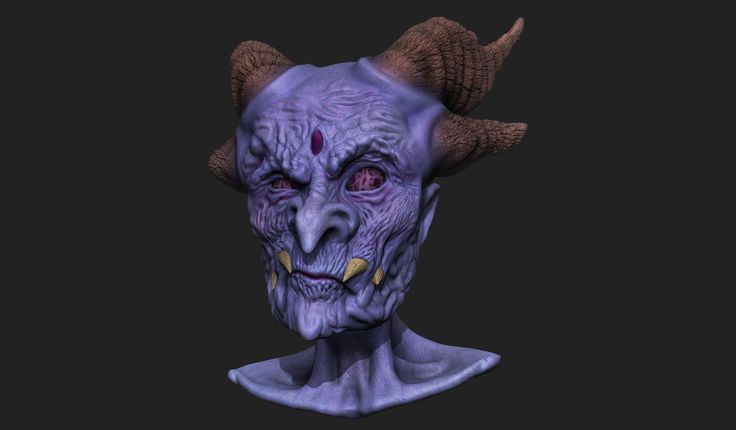 ZBrush sculpt by CMU student Matthew Barnes in the Creature & Character Design Program