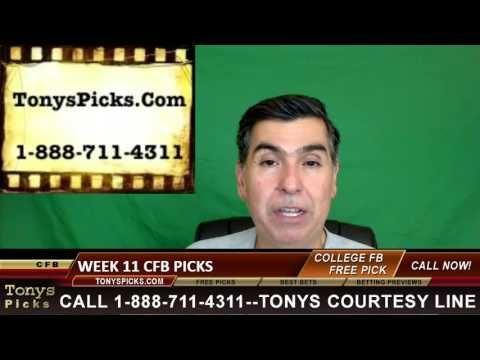 College Football Week 11 Picks Predictions Point Spreads