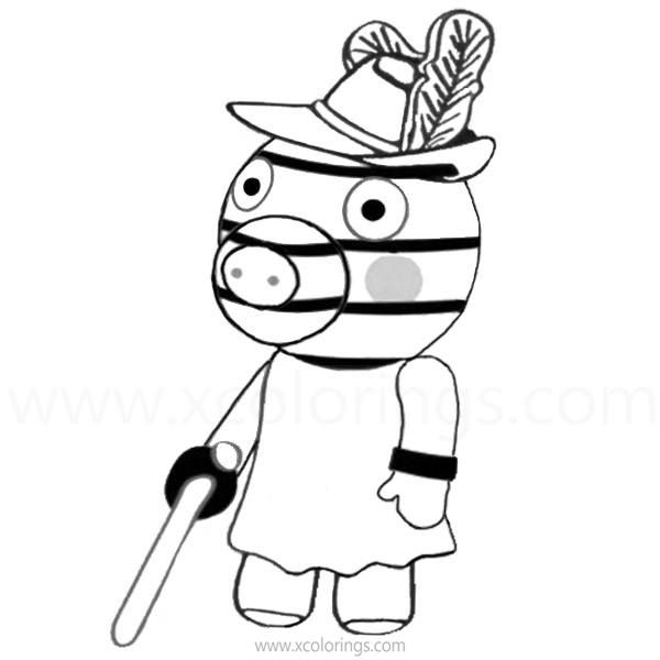 Piggy Roblox Coloring Pages Zizzy Peppa Pig Coloring Pages Roblox Piggy