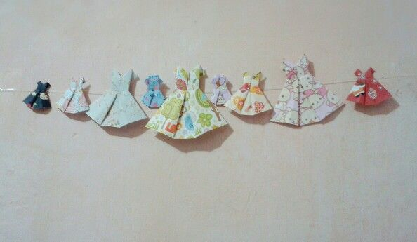 Dress origami. I made it to decorate my room.
