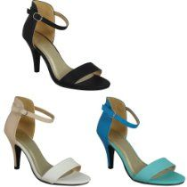 WOMENS LADIES ANKLE STRAP BUCKLE HIGH STILETTO HEEL PARTY SANDALS SHOES SIZE'S 3-8