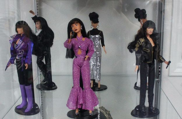 They had her Selena-fied Barbie dolls on display.