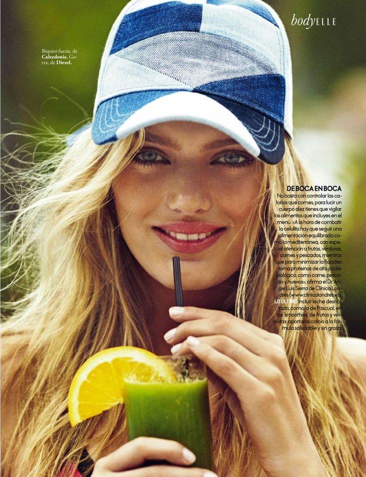 Bregje Heinen Models Colorful Swimsuit Style for ELLE Spain