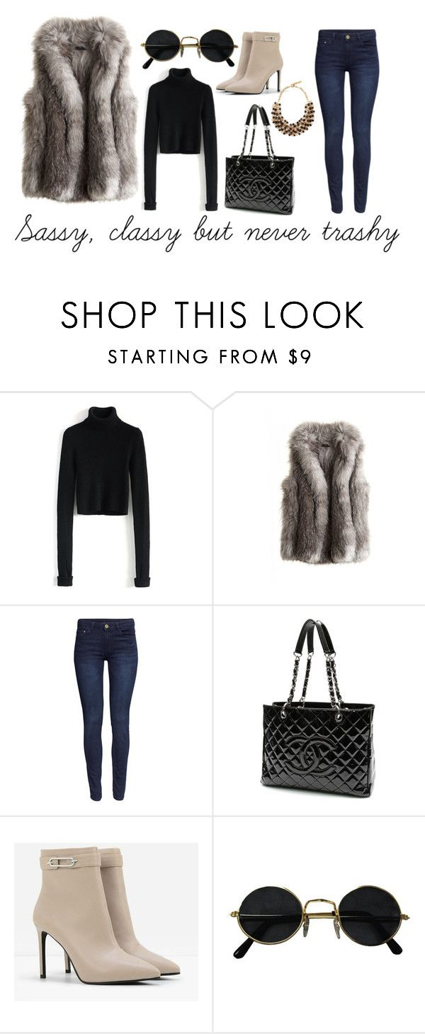 """""""Sassy, classy but never trashy"""" by klara-kandare ❤ liked on Polyvore featuring Chicwish, Calypso St. Barth, H&M, Chanel, CHARLES & KEITH, Etro, women's clothing, women, female and woman"""