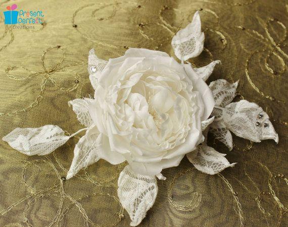 Fabric comb silk rose fabric rose white by PresentPerfectStudio