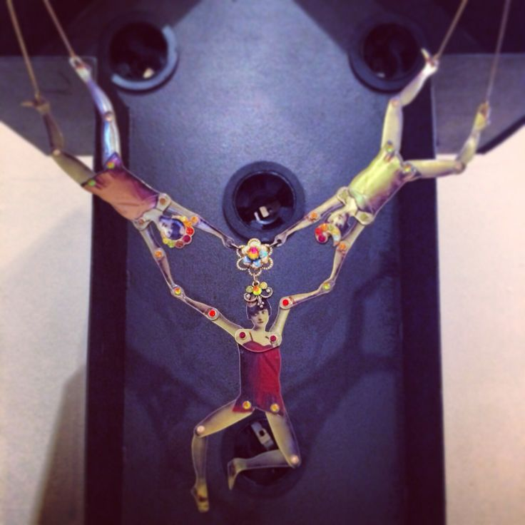 24.3.14 wearing today from the WNDRLND archive. Acrobat #necklace by @Michal Negrin bought in Venice 2012