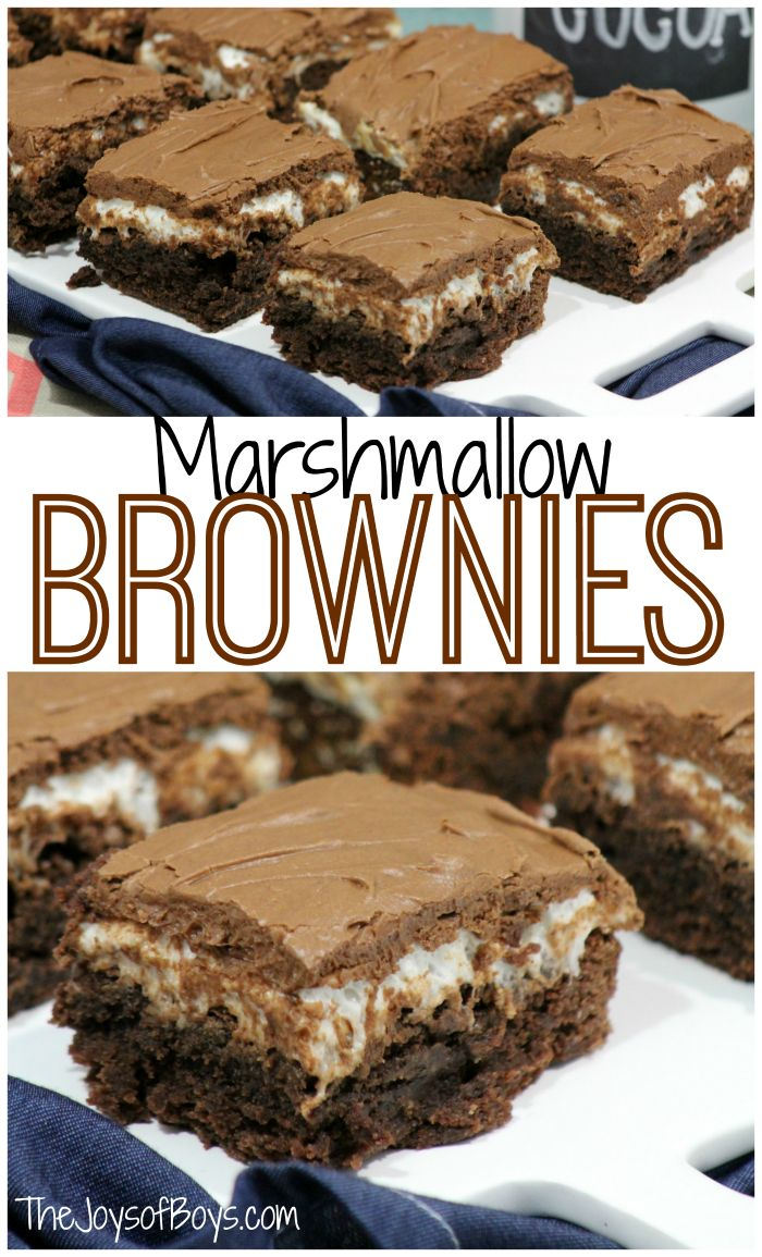 Are You Searching For The Perfect Brownie Recipe? Your Search Is Over!  These Marshmallow