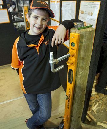 The Gudgeon Pro 4 in 1. Young Fieldays inventor Patrick Roskam (Matamata Intermediate) with his fencing device, the Gudgeon Pro 4 in 1. He is a finalist in the 2013 New Zealand Innovators Awards, Most Inspiring Individual category (http://www.innovators.org.nz/index.php/winners-a-finalists/finalists-2013)