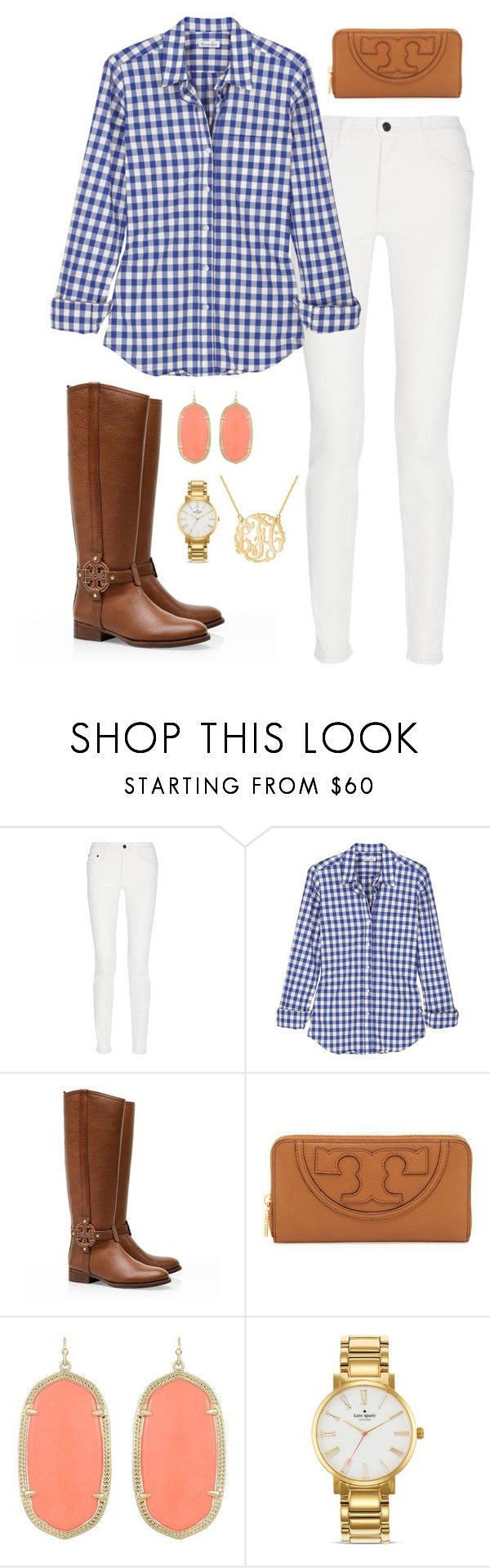 """Fall preppy outfit"" by meganbriody ❤ liked on Polyvore featuring Proenza Schouler, Steven Alan, Tory Burch, Kendra Scott and Kate Spade"