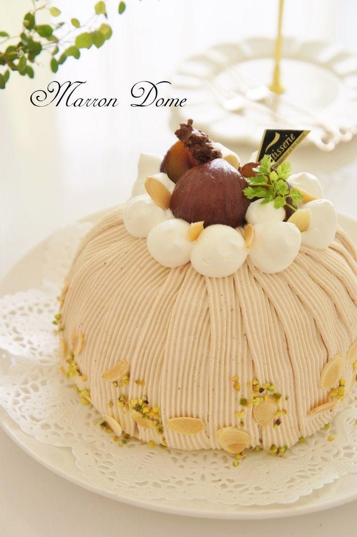 栗がたっぷり豪華なお菓子。渋皮煮を作ったら美味しいケーキにしちゃいましょう♪