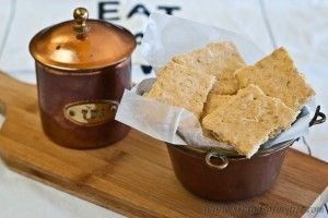 Rice flake and parmesan crackers