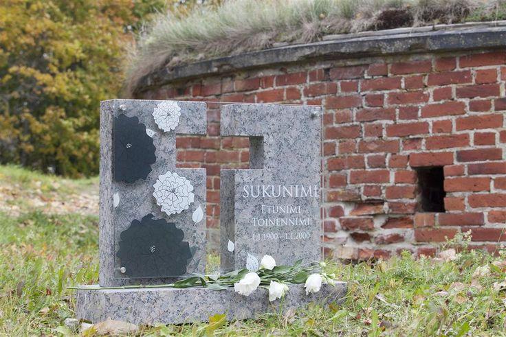 Lasinen hautakivi (malli Kide) Glassy memorial stone Grave stone glass (model Kide)