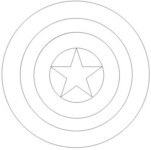 escudo capitan america para colorear - Buscar con Google