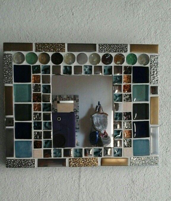 Espejo  mosaico 30x25