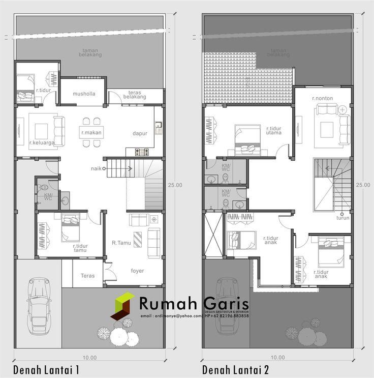 Desain Foyer Minimalis : Denah rumah sehat modern minimalis lantai cuencame