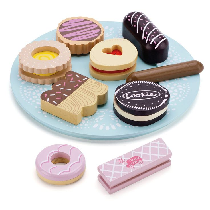 Wooden Toy Biscuits - Toy Kitchens & Play Food - Toys & Gifts - gltc.co.uk £12.50
