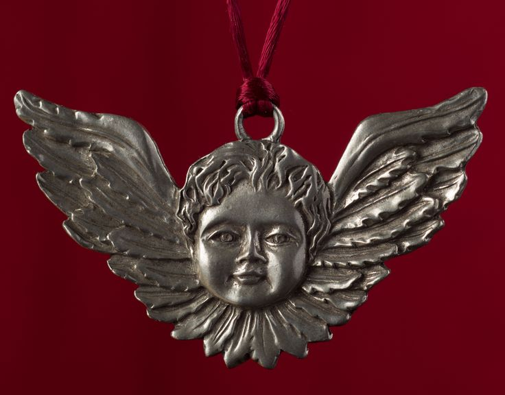 Seagull Pewter Hanging Ornament -- Cherub/Cupid/Angel, undated.