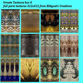 Ornate textures 6 box