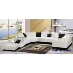 $1639.00  TOSH Furniture - Italian Style Sectional Sofa - TOS-LF-2264-WHITEBLACK