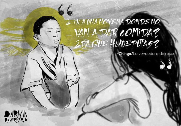 -Retratados ilustrados con sensibilidad,... - Darwin Ramírez / Artista Gráfico